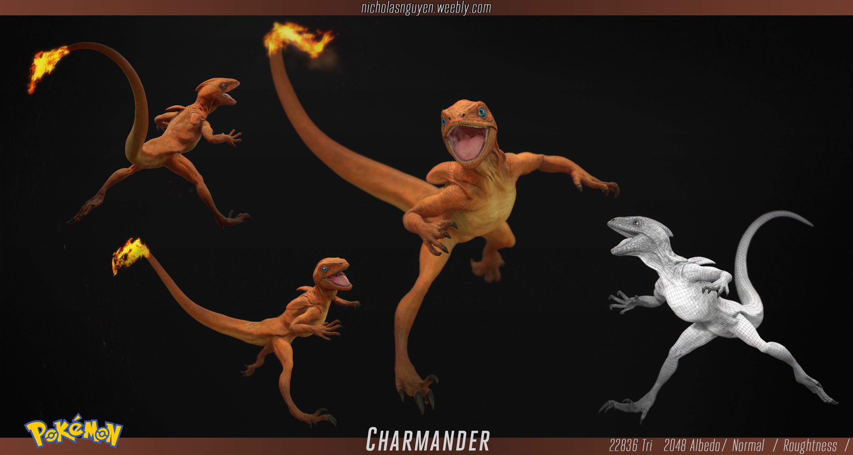 Charmander caterpie chase nicholas nguyen3d artist
